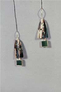 GREEN WINDOW EARRINGS